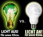 licht aus! versus licht an!